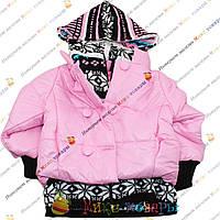 Куртка с вязаным капюшоном для девочек от 4 до 8 лет (3689-1)