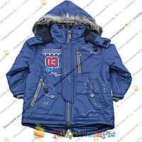 Турецкие куртки с мехом на капюшоне от 3 до 7 лет (3692-1)