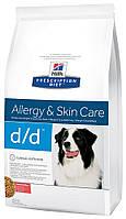 Hill's PD Canine D/D с лососем и рисом, 12 кг