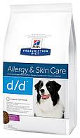 Hill's PD Canine D/D с уткой и рисом, 12 кг