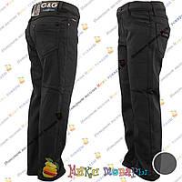 Чёрные Атласные брюки с флисом для мальчика от 6 до 10 лет (vn3719)