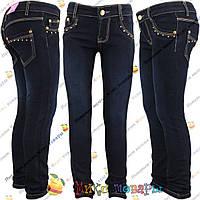 Синие джинсы на флисе для девочек от 6 до 11 лет (vn3792)