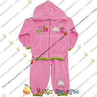 Велюровый костюм для девочки Рост: 62-68-74 см (3852)