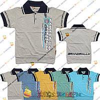 Стильные футболки с воротником и монжетом от 3 до 7 лет (4076-1)