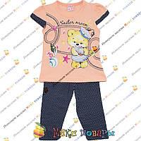 Детские костюмы с Мишкой Моряком для девочек от 2 до 5 лет (4134-1)