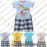 Летние костюмы с бриджами для мальчика от 2 до 6 лет (4145-1)