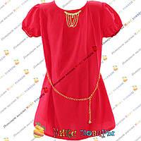 Красная летняя блузка из шифоновой ткани для девочек от 8 до 14 лет (4161-4)
