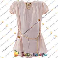Нежная шифоновая блузка с коротким рукавом для девочек от 8 до 14 лет (4161-8)