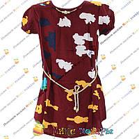 Летняя блузка с коротким рукавом от 8 до 14 лет (4162-1)