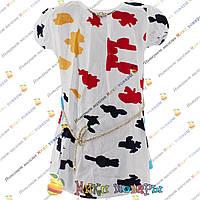 Летняя блузка с разводами для девочек от 8 до 14 лет (4162-2)