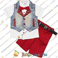 Летний стильный костюм для малышей пр- во Турция от 1 до 4 лет (4171-1)
