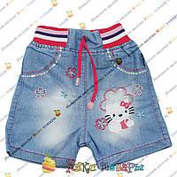 Джинсовые шорты для девочек от 1 до 5 лет (4195)