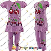 Летние костюмы с бриджами для девочек от 7 до 12 лет (4203-2)