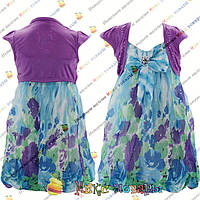 Цветное платье с болеро от 2 до 6 лет (4226)
