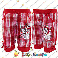 Детские шорты в клеточку для девочек от 2 до 7 лет (4255-2)