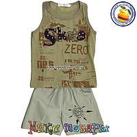 Летний костюм Борцовка и шорты для мальчика от 3 до 6 лет (4362-1)