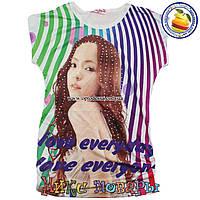 Футболки для девочек с камушками Ткань Масло от 6 до 10 лет (4366)