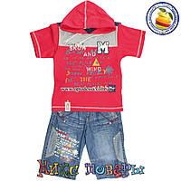 Летний костюм с джинсовыми шортами для мальчика от 3 до 8 лет (4395)