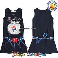 Летнее платье с яблочком для девочек от 3 до 7 лет (4397-1)