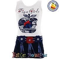 Летнее платье фирма Many Many для девочек от 4 до 8 лет (4397-2)