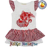 Летнее платье с кошечкой для девочек от 2 до 6 лет фирма Many Many (4398-1)