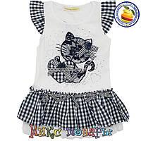 Платье с кошечкой для девочек от 2 до 6 лет фирма Many Many (4398-2)