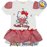 Платье с кошечкой Hello Kitty для девочек от 2 до 6 лет фирма Many Many (4399-1)