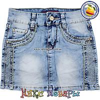 Светлая джинсовая юбка девочек от 7 до 14 лет (4416)
