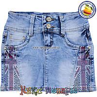 Летние юбки из джинсовой ткани для девочек от 7 до 14 лет пр- во Фабричный Китай(4420)