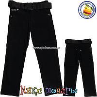 Стрейчевые джинсы с ремнём и регулятором пояса для мальчика от 6 до 10 лет (4442)
