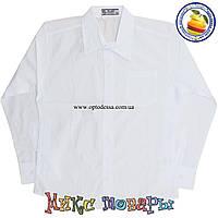 Белые рубашки с длинным рукавом пр- во Турция для мальчика Размеры: 128 и 140 см (4488)