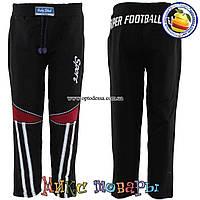 Чёрные Спортивные штаны без манжета для мальчика от 3 до 6 лет (4082-2)