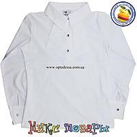 Школьная блузка на кнопках для девочек от 8 до 14 лет (4498)