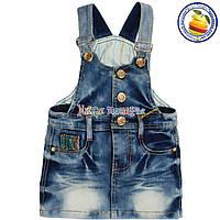 Сарафан из джинсовой ткани для девочки от 2 до 6 лет (4530)