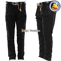 Чёрные брюки для девочек от 7 до 12 лет (4540)