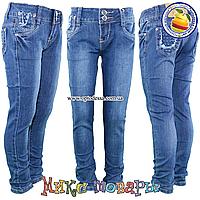 Синие джинсы для девочек от 7 до 12 (4552)