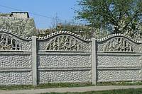 Забор бетонный, плита заборная