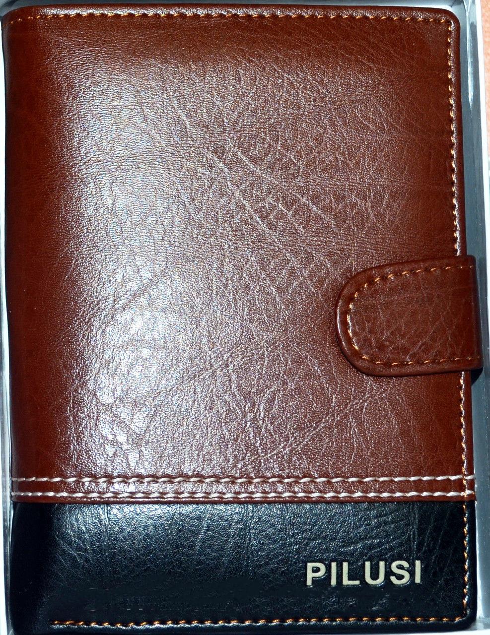 Стильный мужской кошелек с PU кожи. Отличное качество. Удобный и практичный кошелек. Купить. Код: КДН534