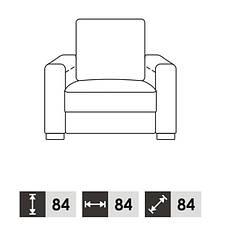 Современное кожаное кресло VEGAS (84 см), фото 3