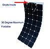 Гнучка сонячна батарея 100 Вт 12 В (32-100), фото 2