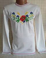 Детская вышиванка для девочки р.98-104,110-116см