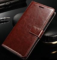 Кожаный чехол-книжка  для Lenovo K3 Note, A7000, A7600 коричневый