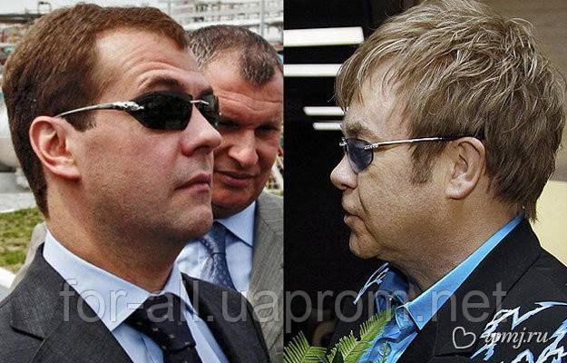 солнцезащитные очки, Panthère de Cartier, Медведев, Элтон Джон