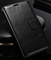 Кожаный чехол-книжка  для Lenovo K3 Note, A7000, A7600 черный