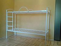 """Кровать металлическая двухъярусная """"Эконом""""с лестницей и защитными дугами"""