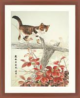 """Набор для вышивания """"Котик на ветке"""" XIU CRAFTS"""