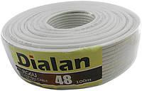 Коаксиальный кабель DIALAN RG6U 48W copper (100 м.) 75 Ом белый
