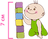 детский матрас Ultra Fresh Comfort / Ультра Фреш Комфорт 60х120 ЕММ h7 Herbalis Kids  беспружинный , фото 5