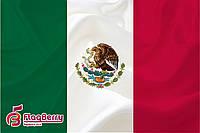 Флаг Мексики 80*120 см., искуственный шелк