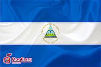 Флаг Никарагуа 80*120 см., искуственный шелк